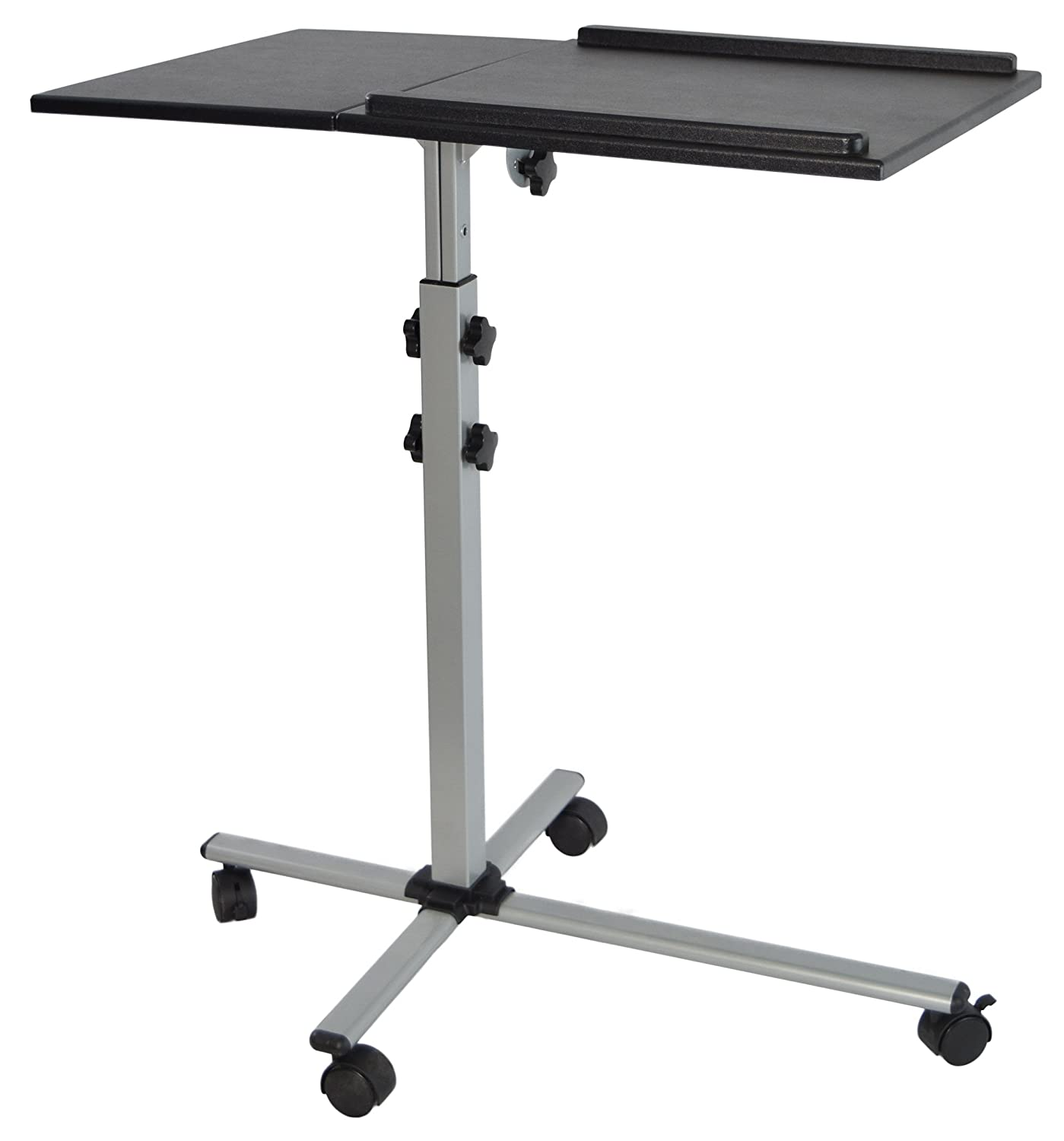 VIVO Projector & Laptop Adjustable Trolley Presentation Cart / Mobile Projection Stand (CART-V01L) FBA_CART-V01L