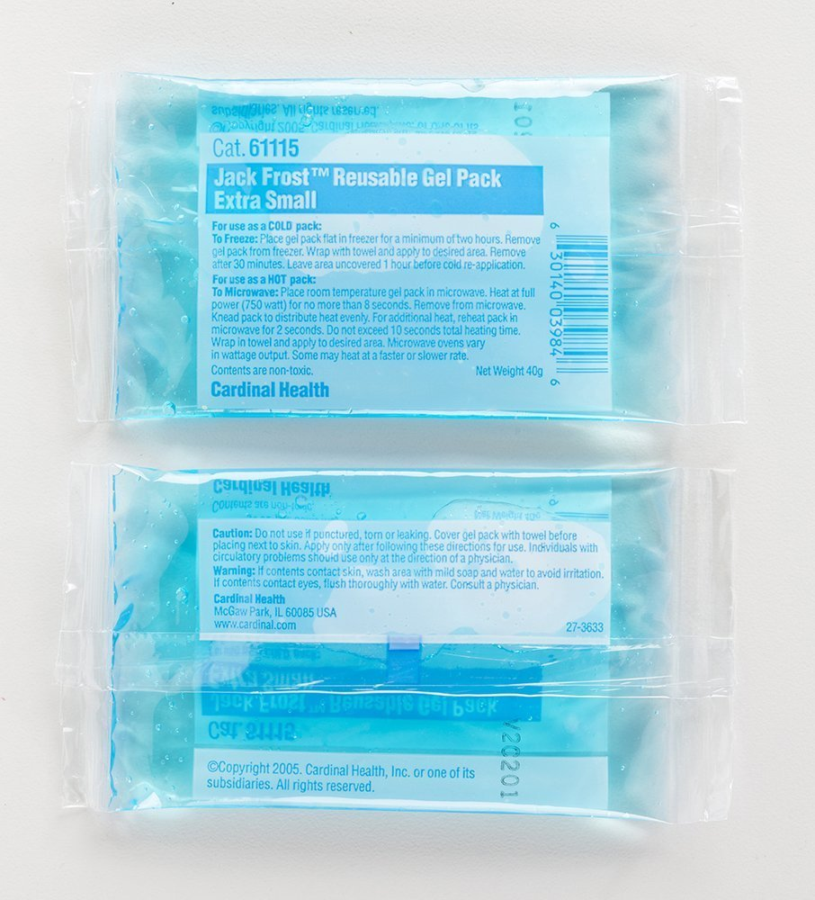 Cardinal Health 61115 Reusable Hot/Cold Gel Pack, 2.5 in. x 5 in, XS (Pack of 150)