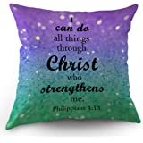 Amazoncom Golee Throw Pillow Cover Saying Faith All Things Are