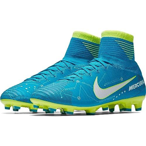Nike Mercurial Superfly V DF Neymar FG, Zapatillas de Fútbol Unisex Niños, Azul Blau