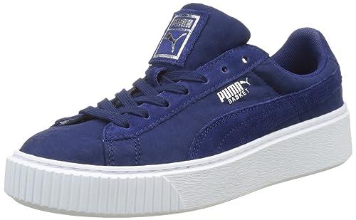 puma basket platform donna blu