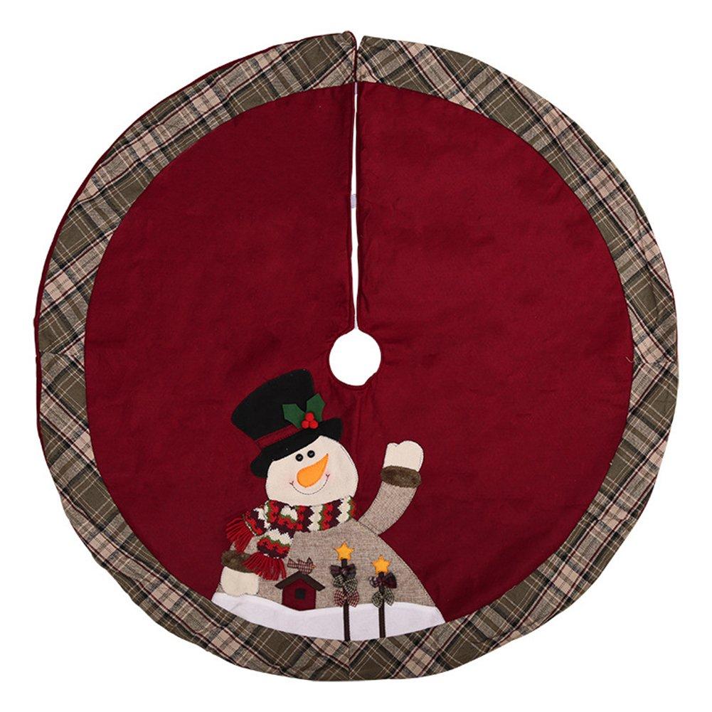Infgreate 105cm Santa Claus Snowman Cute Christmas Tree Skirt Apron Xmas Party Christmas Decorations Clearance Snowman