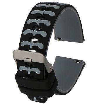Fatetec 22mm Banda de la Correa Reemplazo Rápida Silicona Pulsera para Samsung Galaxy Gear S3 Pebble Time Samsung Gear 2 Moto 360 2nd LG G Watch W100 ...