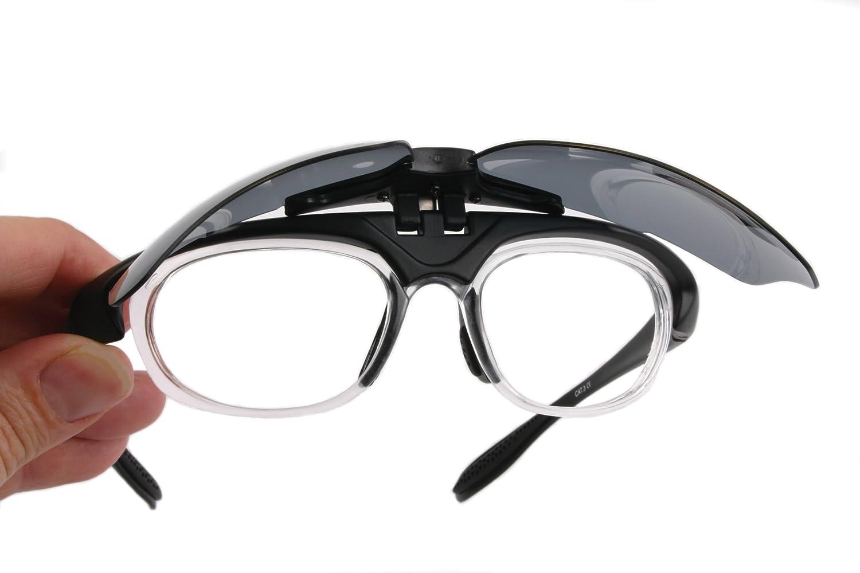 Modelglasses: Gafas de sol INNOVATION PLUS, negras RX GRADUADAS, POLARIZADAS para RC, tenis y otros deportes. Cristales intercambiables (x4: Cat 0, 2, 3, ...