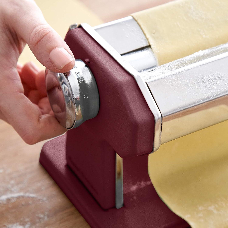 Manuelle Nudelmaschine Nonna Misty Cliff Rezeptheft Pastamaker inkl Lasagne Nudeltrockner /& 3 Schneideaufs/ätze f/ür Spaghetti Edelstahl Tagliatelle