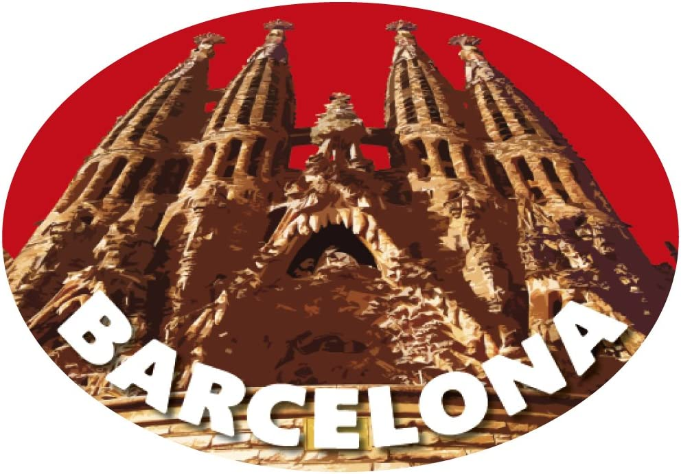 Sticker Oval Sagrada Familia Barcelona