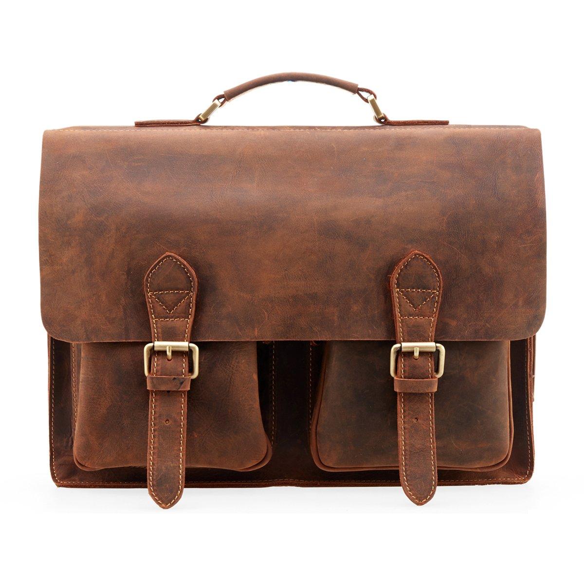 Kattee Men's Briefcase, brown (Brown) - XZ122-PB