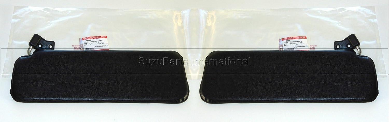 Coppia di Aletta Parasole Pantina SX + DX nero originale - 84801-80002, 84802-80002 Suzuki/Maruti Ltd.