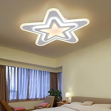 LED Plafonnier Chambre lumière Chaude Romantique Ultra Mince étoile ...