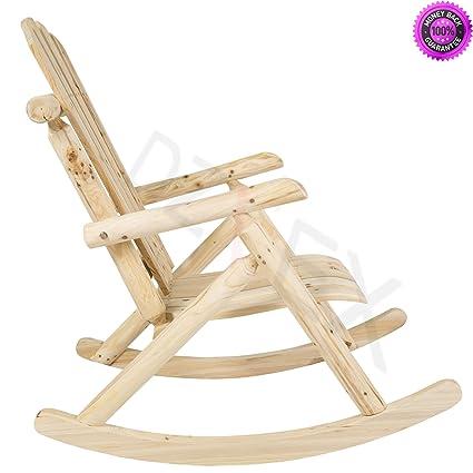 Amazon Com Dzvex Wood Log Rocking Chair Single Rocker