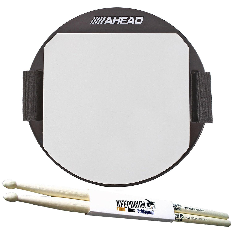 'Ahead akpp Practice Pad 5Knee Pad + baquetas Keepdrum 1par