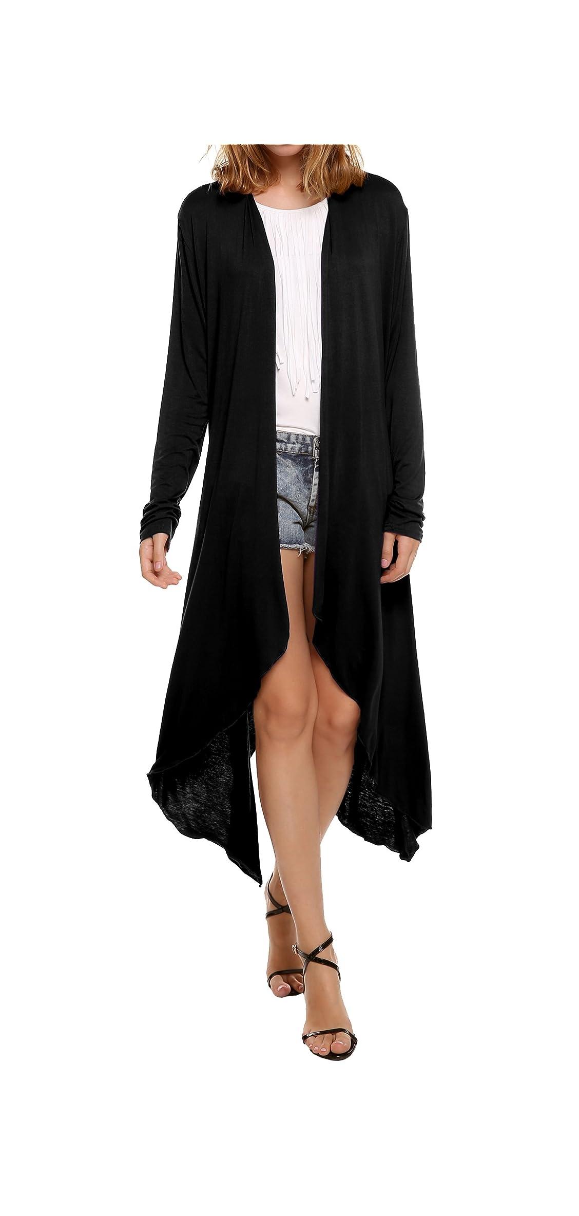 Long Cardigan For Women, Lightweight Long Sleeve Open