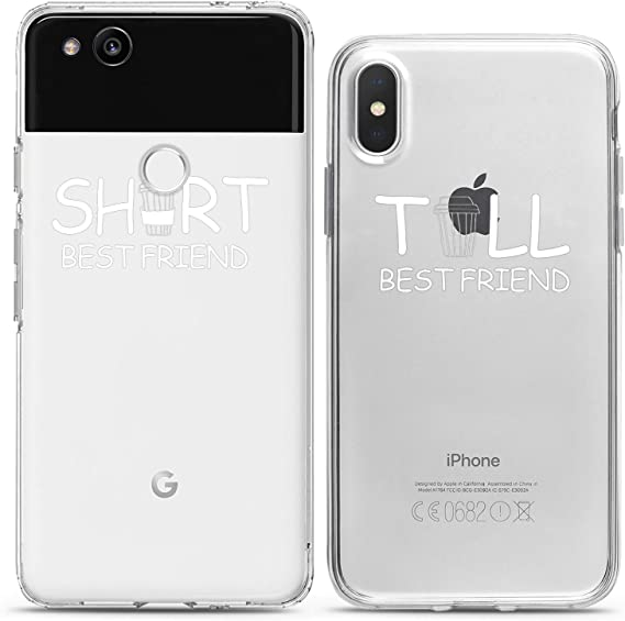 Short Tall Best Friend Gift iPhone XS Max Case Gift for BFF Best