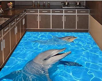 3d Fußboden Meer ~ Weaeo meer strand stock aufkleber dolphin wasserdichter boden