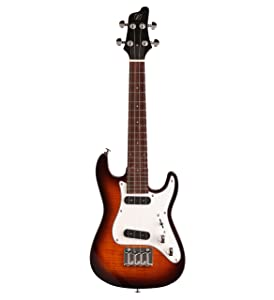 Available In Black Flame Maple Or Quilt The Vorson FSUK1BK Style Electric Ukulele Offers A Unique Appearance That Appeals To New And Experienced