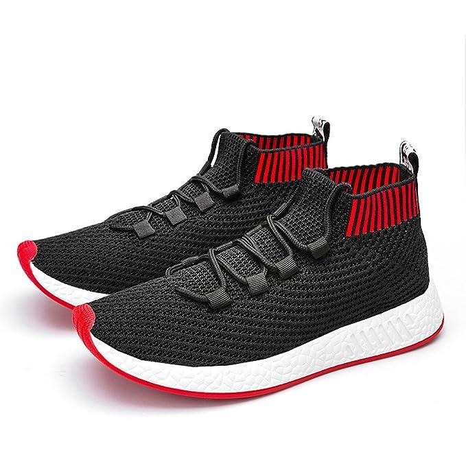 ❤ Sneaker para Hombres, Hombre High Help Cross Tied Soft Sole Running Calzado Zapatos de Gimnasia Calcetines Zapatos Absolute: Amazon.es: Ropa y ...