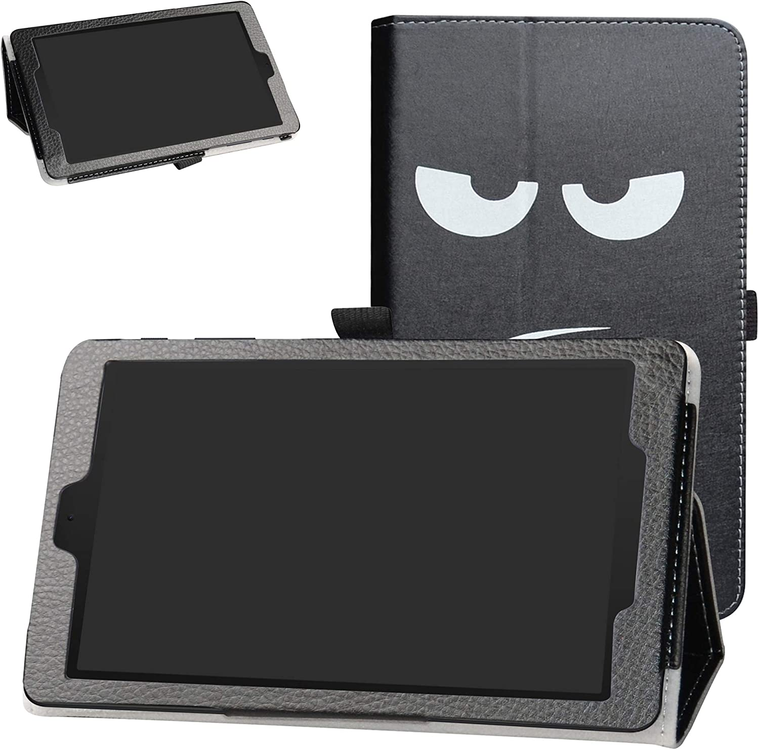 Bige Case for Alcatel Joy Tab Case,Alcatel 3T 8 Tablet Case,PU Leather Folio 2-folding Stand Cover for T-Mobile Alcatel Joy Tab 8-inch Tablet/Alcatel 3T 8-inch Tablet,Don't Touch