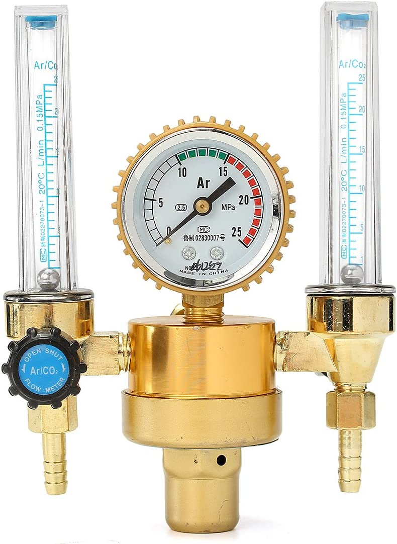 1//4PT Mig Flow Meter Gas Argon AR//CO2 Regulator Welding Weld 1-25 L//Min