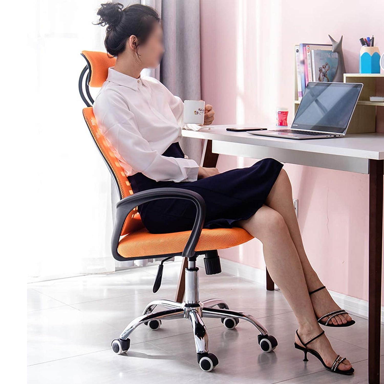 YYL kontorsstol kontor datorstolar, hem ryggstöd lyft svängbara stolar, bekväm sovsal spelstolar, svart/grå svängstol (färg: grå) Grått