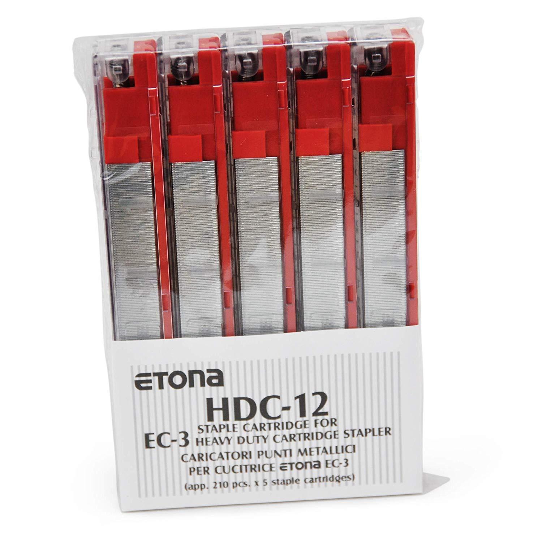 55-80 Sheets for Etona EC3 REGUR HDC 12 Red Staple Cassette Refills