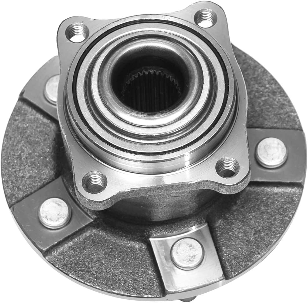 Rear Wheel Bearing and Hub Assembly Compatible With 2005 Chevrolet Equinox 2006 Pontiac Torrent 2002-2007 Saturn Vue Pair 5 Lug Non-ABS TUCAREST 512230 x2