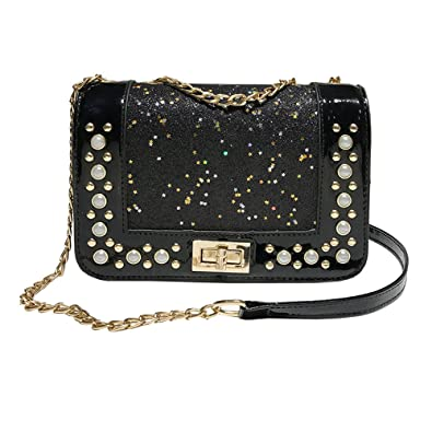 Fashion Women Sequins Leather Crossbody Bag Coin Bag Phone Bag Shoulderag womens handbags totes shoulder bags