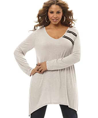 581721c4bdf Image Unavailable. Image not available for. Color  Style Co Women s  Lace-Accent Babydoll Sweater ...