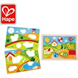 Hape Sunny Valley Puzzle 3 in 1| Animal Wooden Maze Toy, Multicolored Jigsaw Puzzle For Toddlers