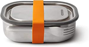 Black+Blum Stainless-steel Lunch Box | Leak-proof Oven Safe Plastic Free Meal Prep Lunch Food Container, Orange, 1000ml / 34 fl oz