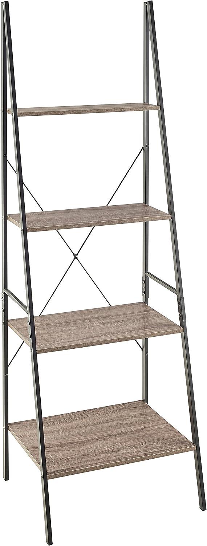 ClosetMaid 1316 4-Tier Wood Ladder Shelf Bookcase, Gray: Furniture & Decor
