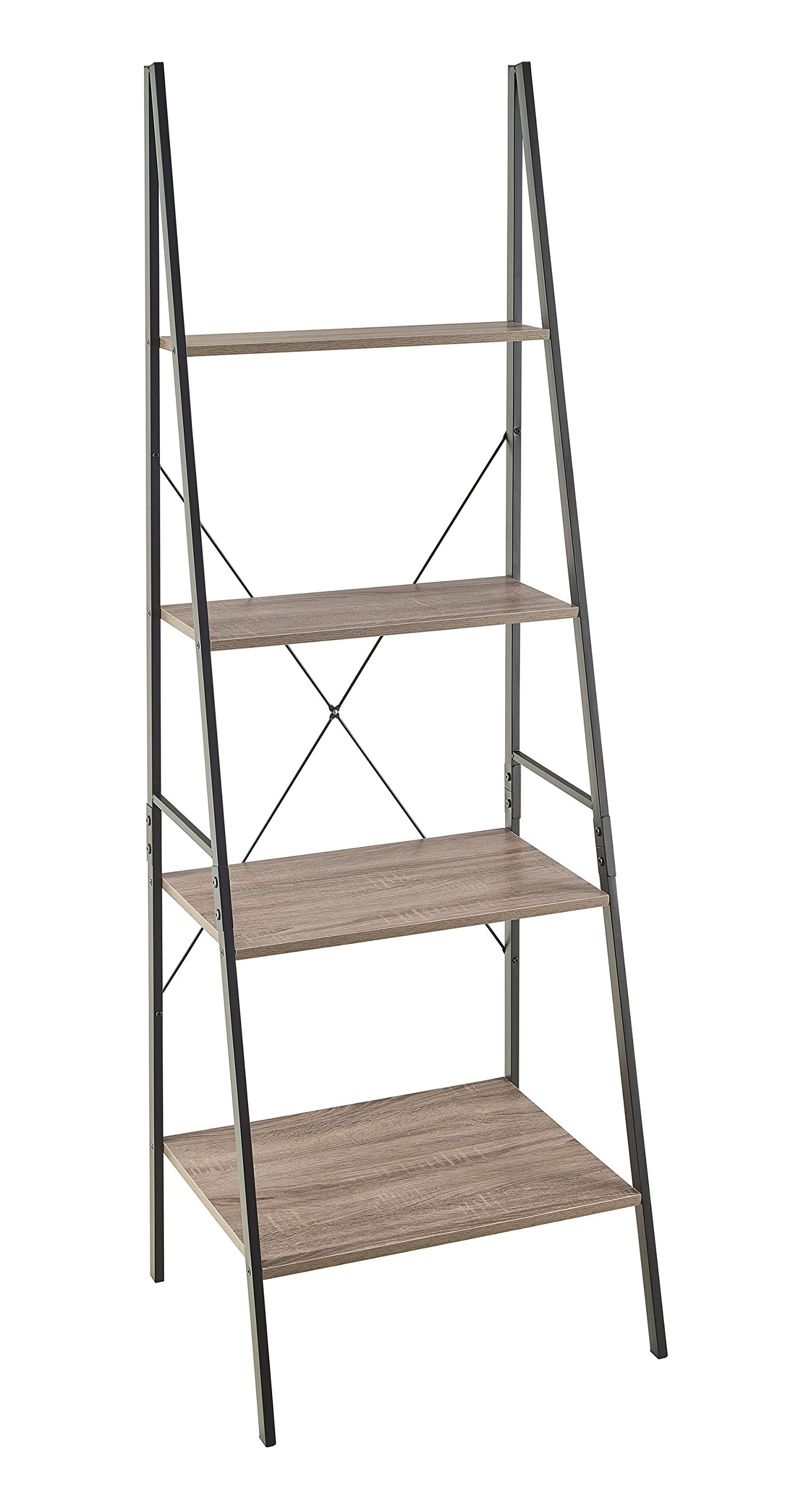 ClosetMaid 1316 4-Tier Wood Ladder Shelf Bookcase, Gray by ClosetMaid