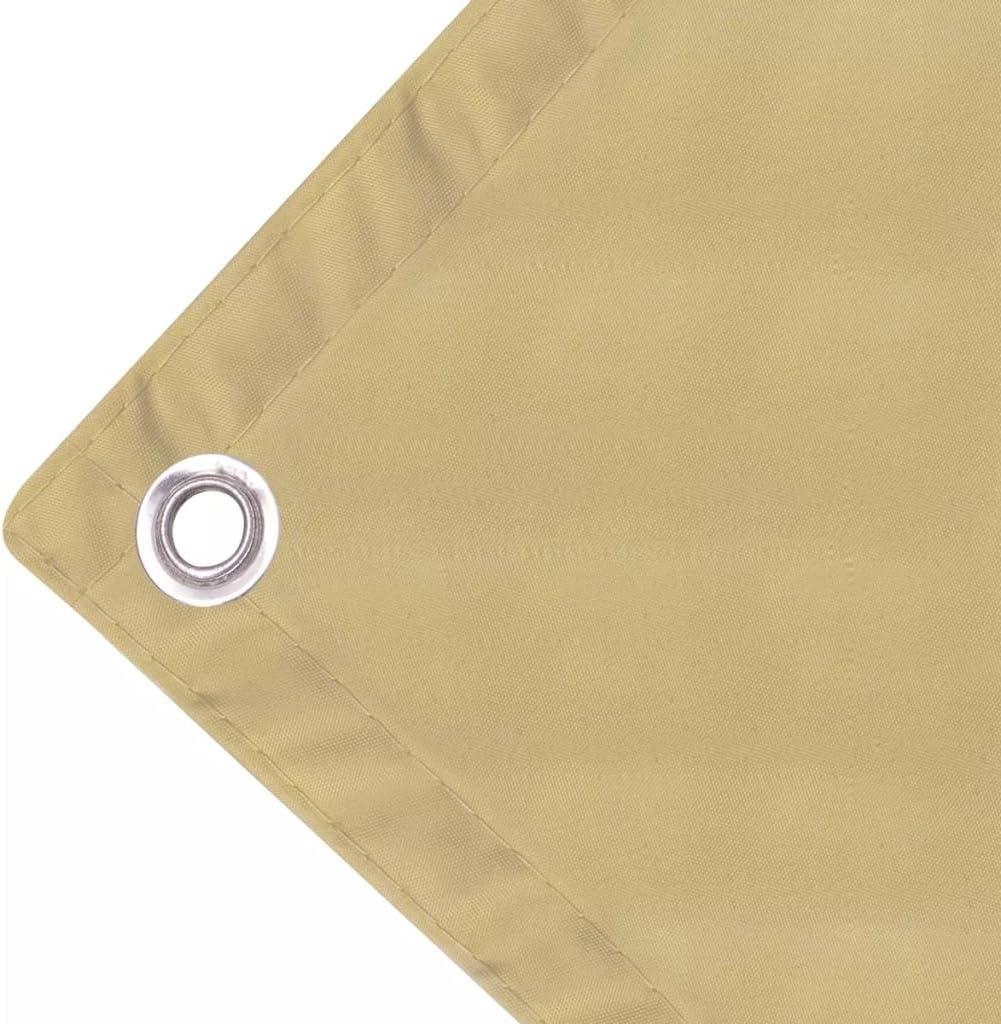 Tidyard Paravento da Balcone in Tessuto Oxford,Protezione UV,Impermeabile,con Occhielli 90x400 cm Beige