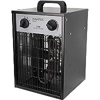 DAHTEC - H3.521 - Calefactor ventilador eléctrico 3kW 3000 Watt - 3 funciones ajustables, termostato ajustable, 230 V…