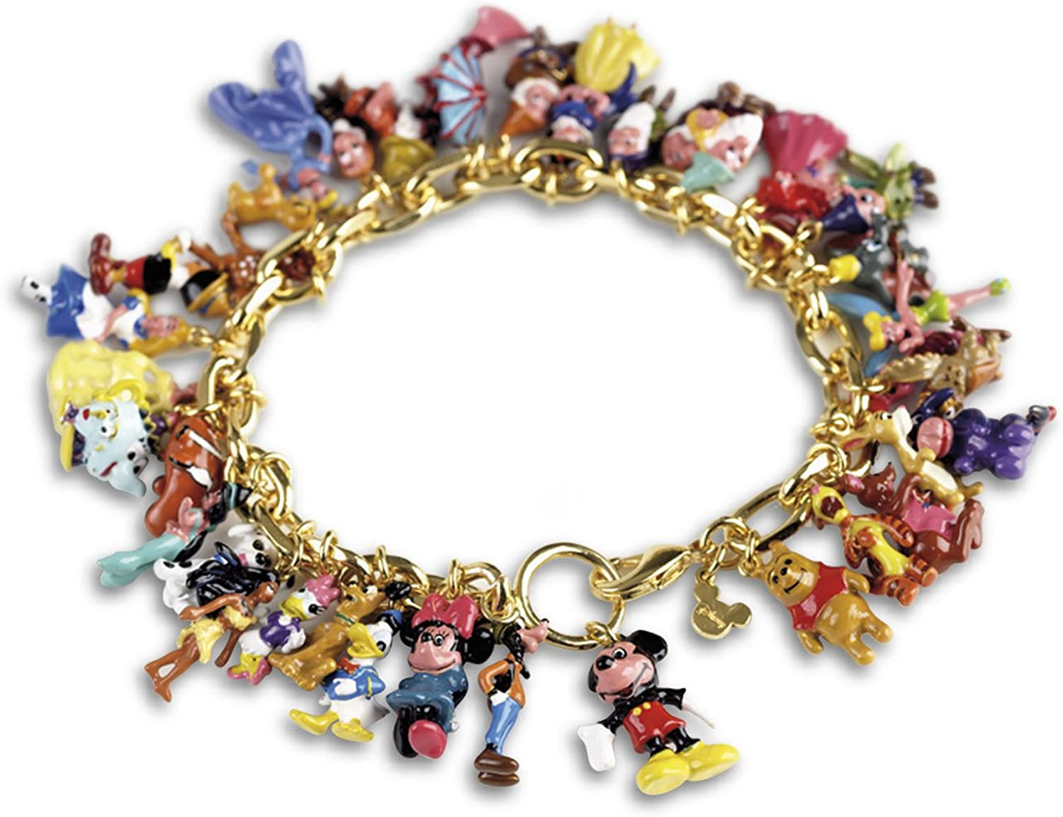 The Bradford Exchange Ultimate Sparkling 9 Disney Character Classic Charm  Bracelet Exclusive to