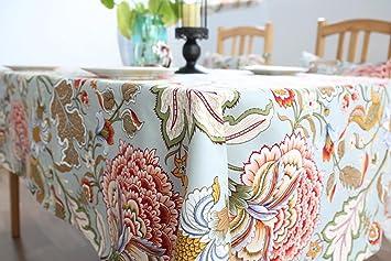 Große Blumen Rechteckige Baumwolle Leinen Tischdecke Handtuch Couchtisch  Home Küche Wohnzimmer Dekor Zubehör 6 Größen ,