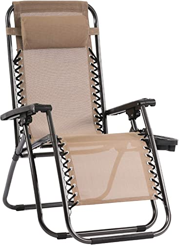 Zero Gravity Chair Patio Chairs Lounge Patio Chaise 1 Pack Adjustable Reliners