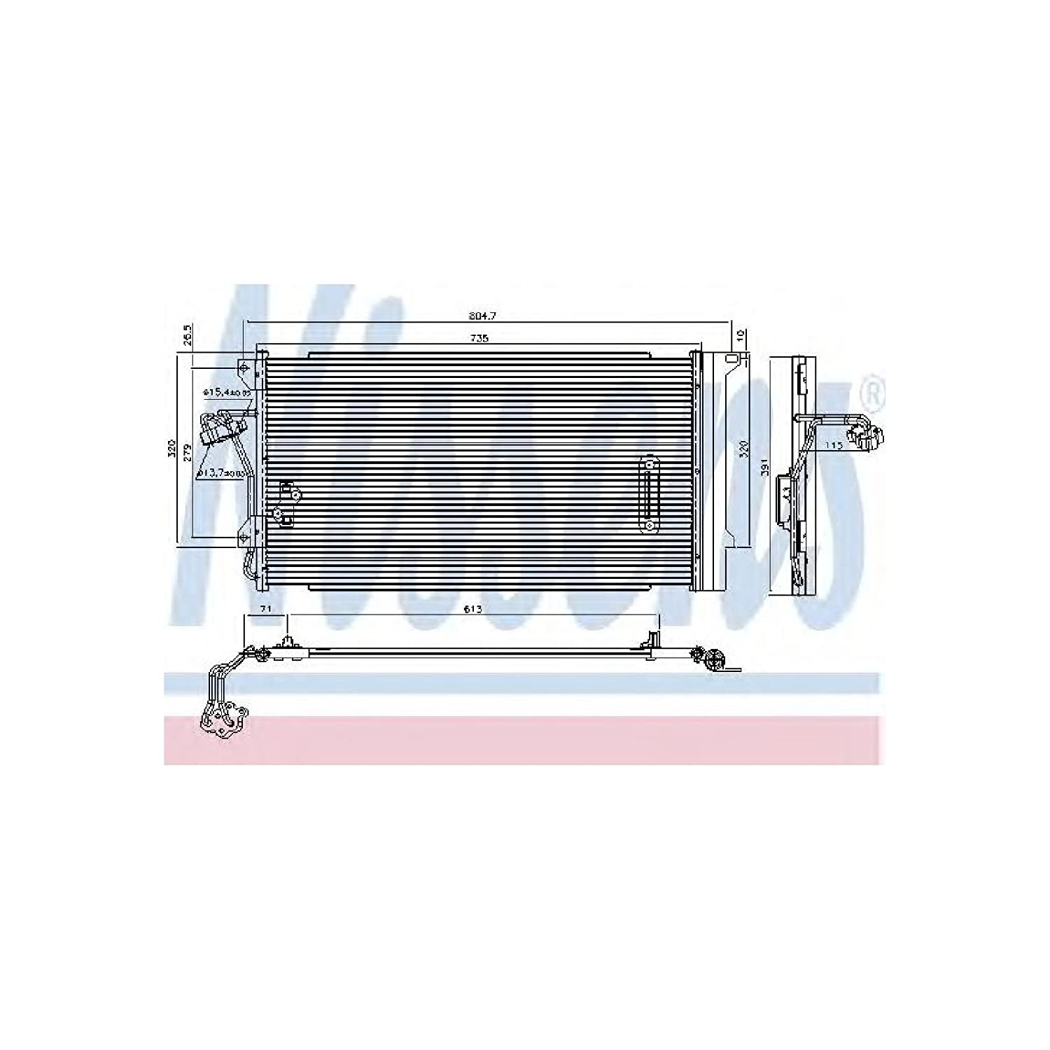 Nissens 94667 Condenser, air conditioning AutoMotion Factors Limited