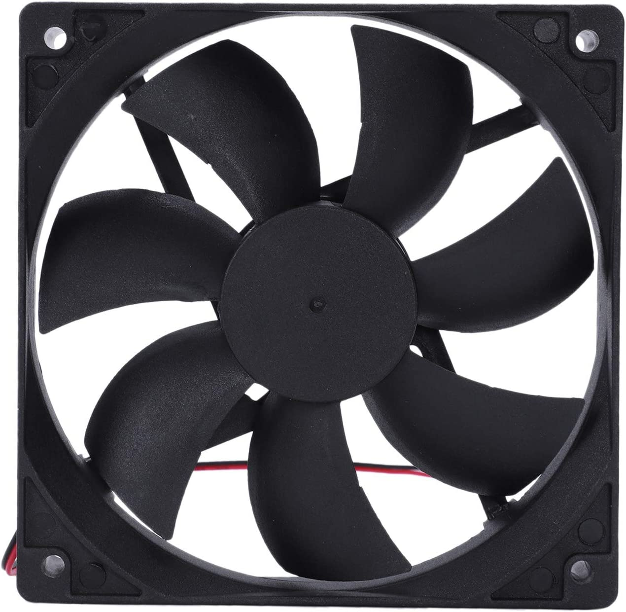 Vaorwne 120mm x 25mm 12V 2Pin Sleeve Bearing Cooling Fan for Computer Case