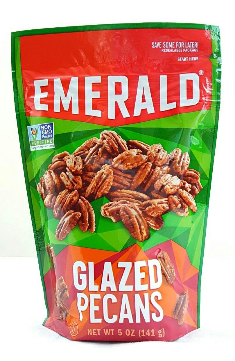 Emerald Glazed Pecans, Non GMO Verified, 5 oz (Pack of 4) by Emerald