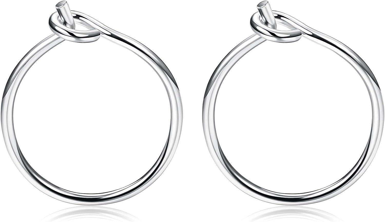 Hypoallergenic Hoops for Sensitive Ears 1.5 Inch Hoops Earring Niobium Hoop Earrings Extra Large Silver Color Niobium Jewellery
