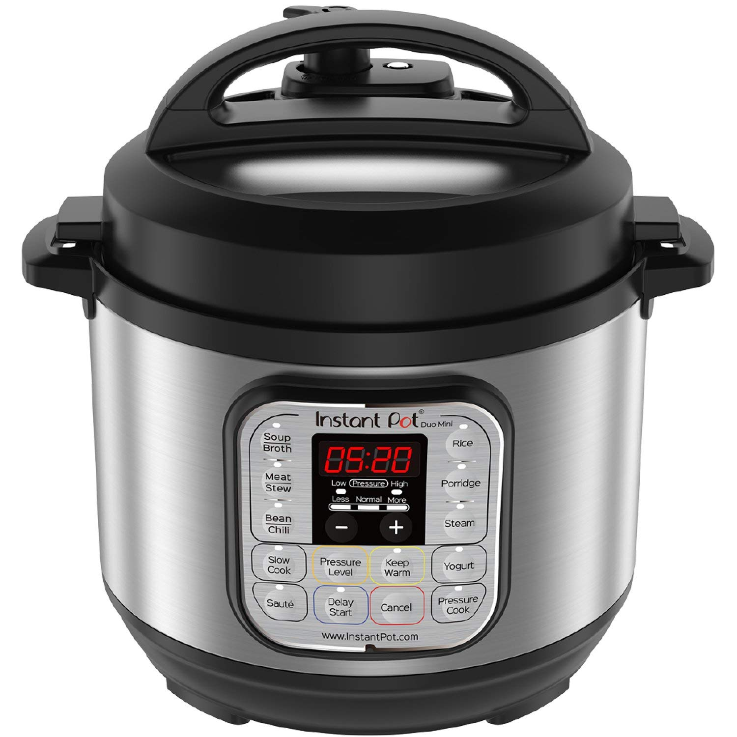 Instant Pot Duo Mini 3 Qt 7-in-1 Multi- Use Programmable Pressure Cooker, Slow Cooker, Rice Cooker, Steamer, Saute, Yogurt Maker and Warmer (Certified Refurbished)