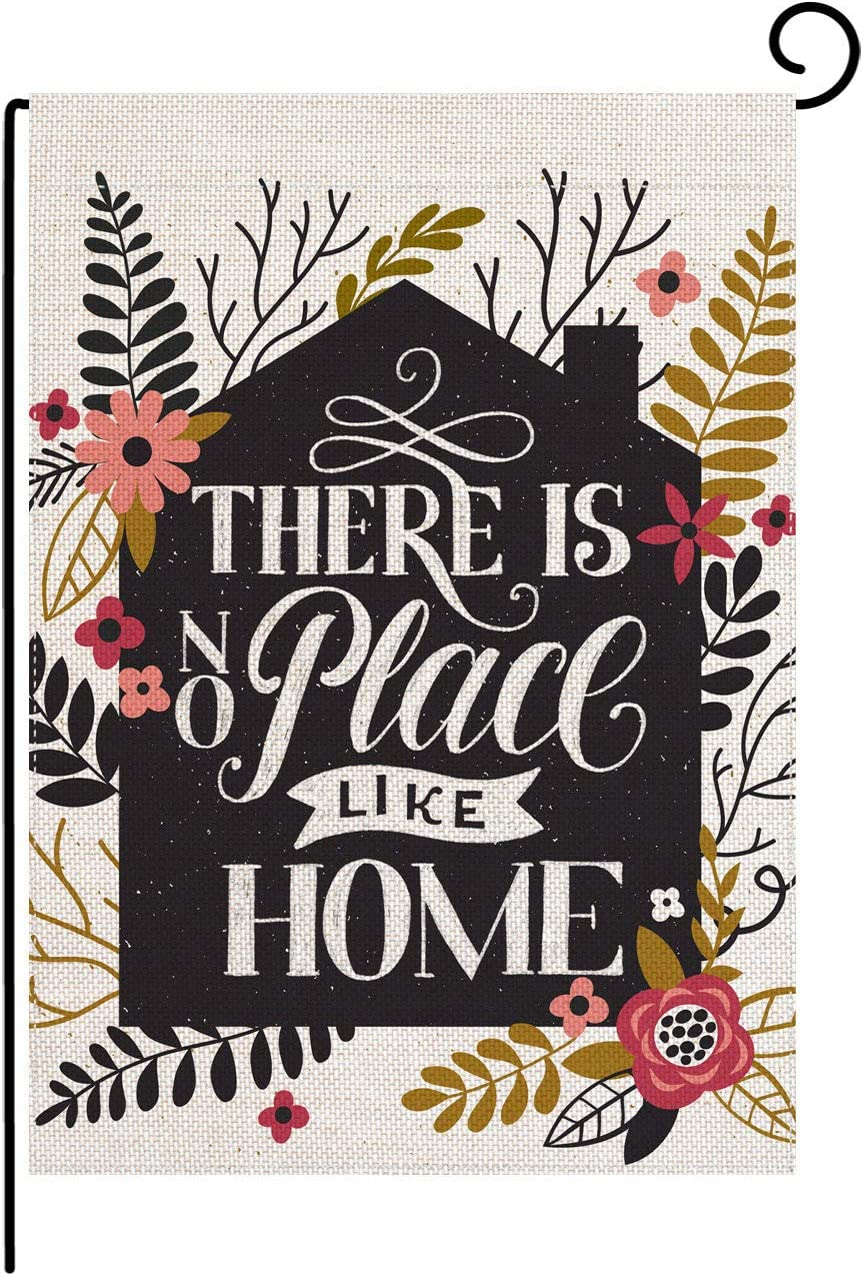 pingpi Home Garden There is No Place Like Home 12.5 x 18 Inch Decorative Inspirational Double Sided Garden Flag