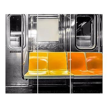 Dekoglas Glasbild New York Subway Acrylglas Bild Kuche Wandbild