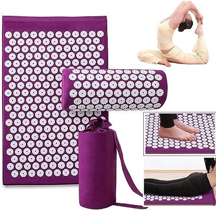 THS Acupuncture Mat Massage Yoga Mats Fitness Massage Cushion ...