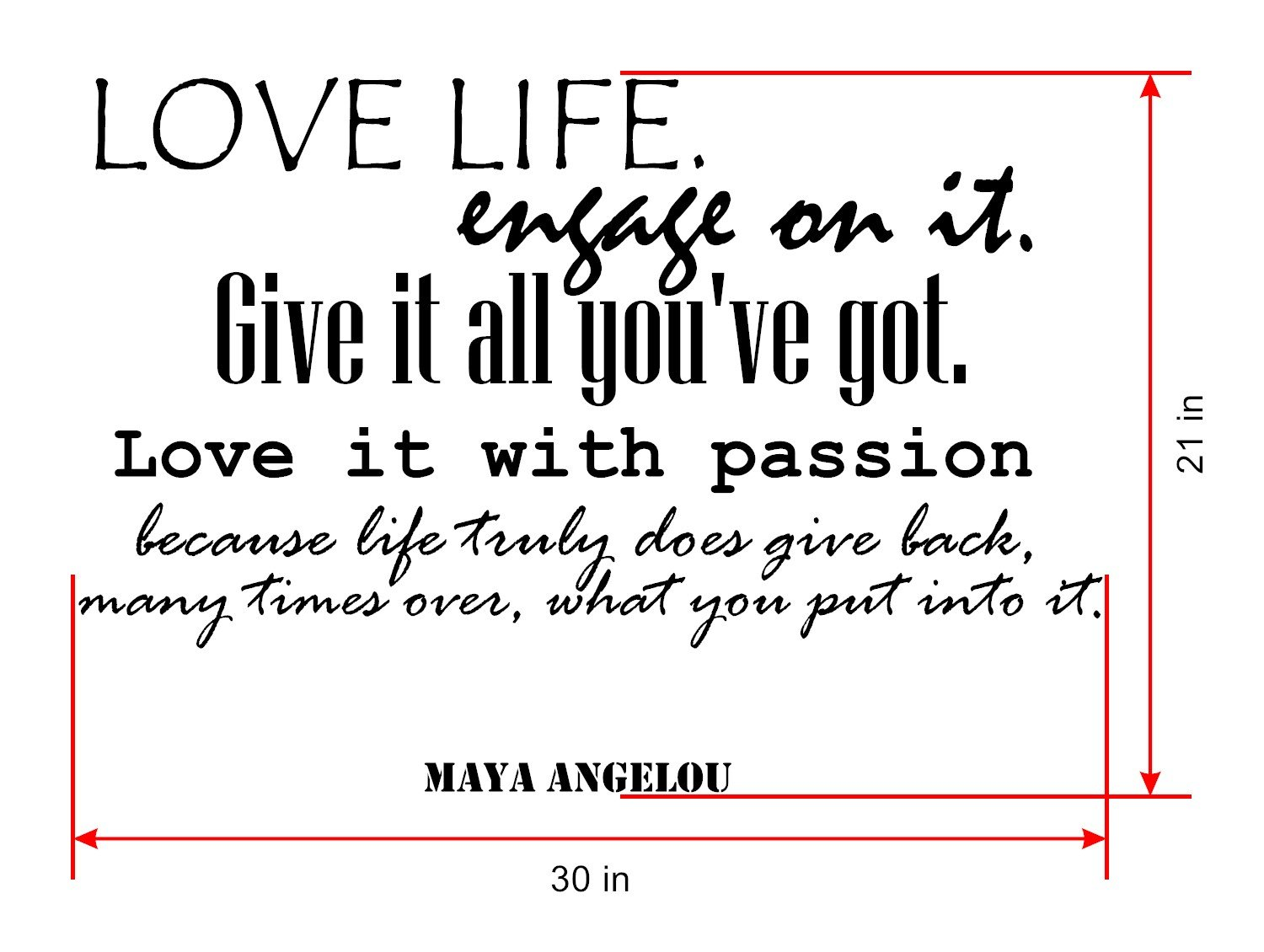 Maya Angelou Quotes Inspirational Wall Decals Vinyl Wall Art: A Wall Decal  Inspiring Quotes   Famous Quotes Wall Decor   Wall Art Stickers Quote  Decals ...