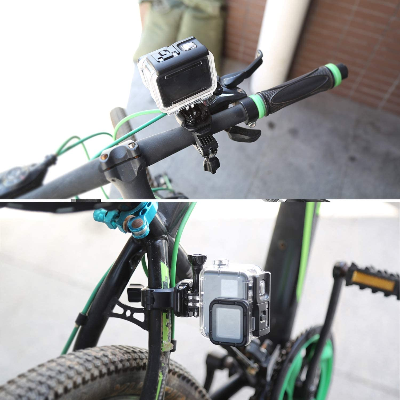 Black Durable Hand Bar Camera Houlder Short Camera Fixed Handle Bar Bike Bicycle Holder Mount for gopro hero7//6//5