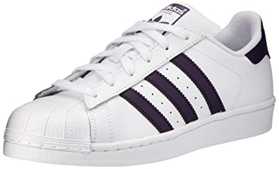 timeless design 2e501 8852c adidas Superstar W, Chaussures de Gymnastique Femme, Blanc FTWR White Legend  Purple