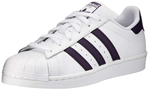 huge selection of 3f3c2 05ed7 Adidas Womens Superstar Leather White Legend Purple Trainers 5.5 US