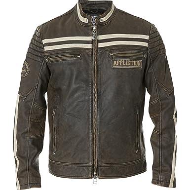 6709b8553 Affliction Black Skull Genuine Leather Jacket