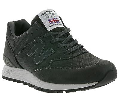 nouveau produit 00339 d255b New Balance 576 réelle sneaker en cuir pour femmes gris ...